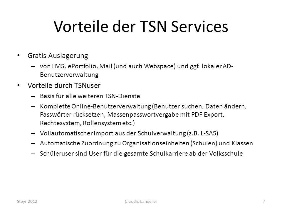 Vorteile der TSN Services