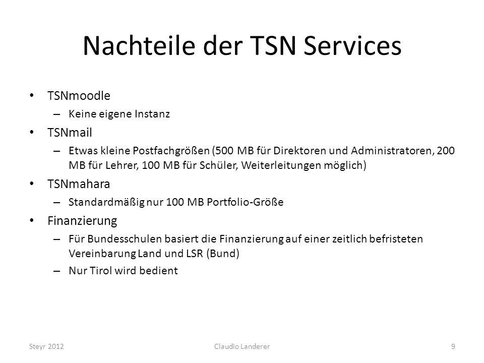 Nachteile der TSN Services