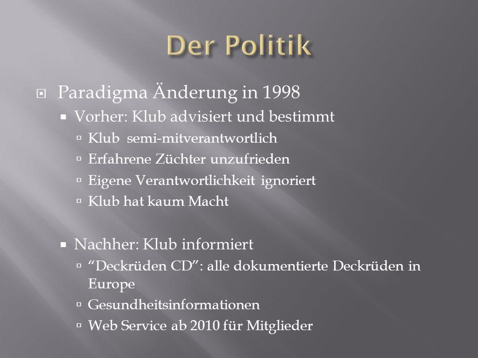 Der Politik Paradigma Änderung in 1998