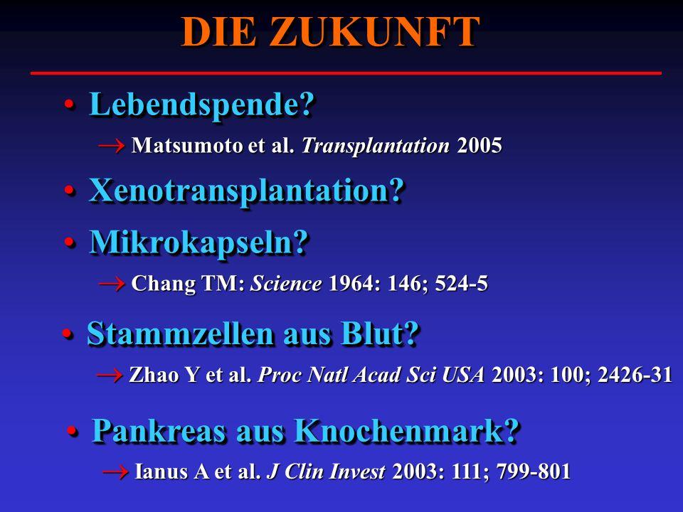 DIE ZUKUNFT Lebendspende Xenotransplantation Mikrokapseln