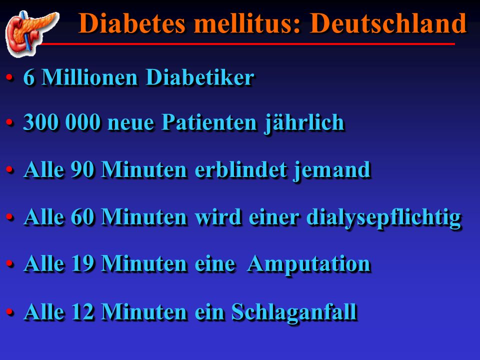 Diabetes mellitus: Deutschland