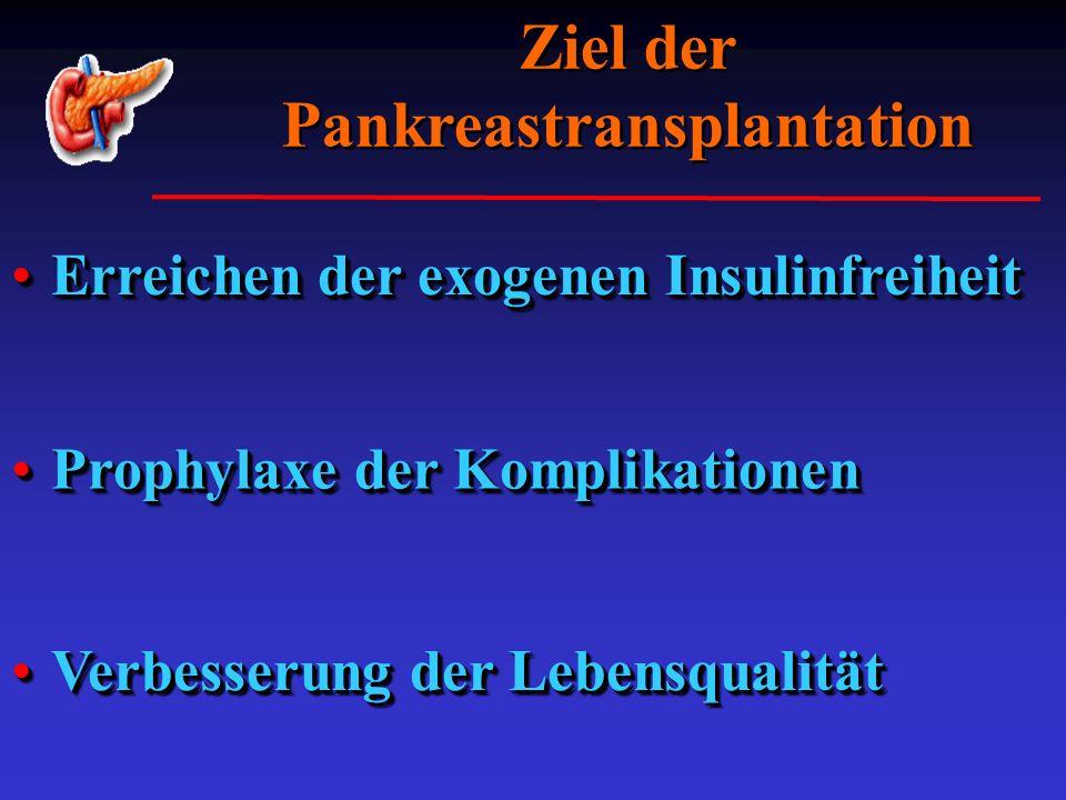 Ziel der Pankreastransplantation