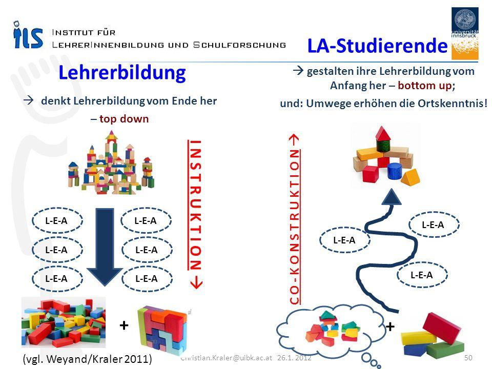 LA-Studierende Lehrerbildung + + I N S T R U K T I O N 