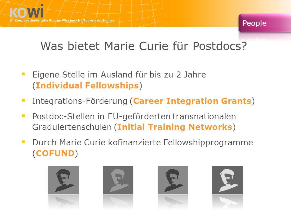 Was bietet Marie Curie für Postdocs