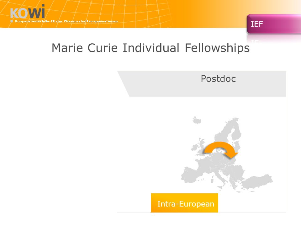 Marie Curie Individual Fellowships