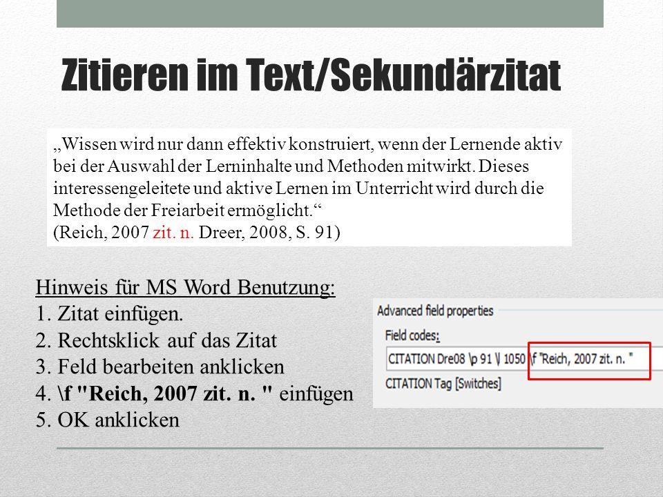 Zitieren im Text/Sekundärzitat