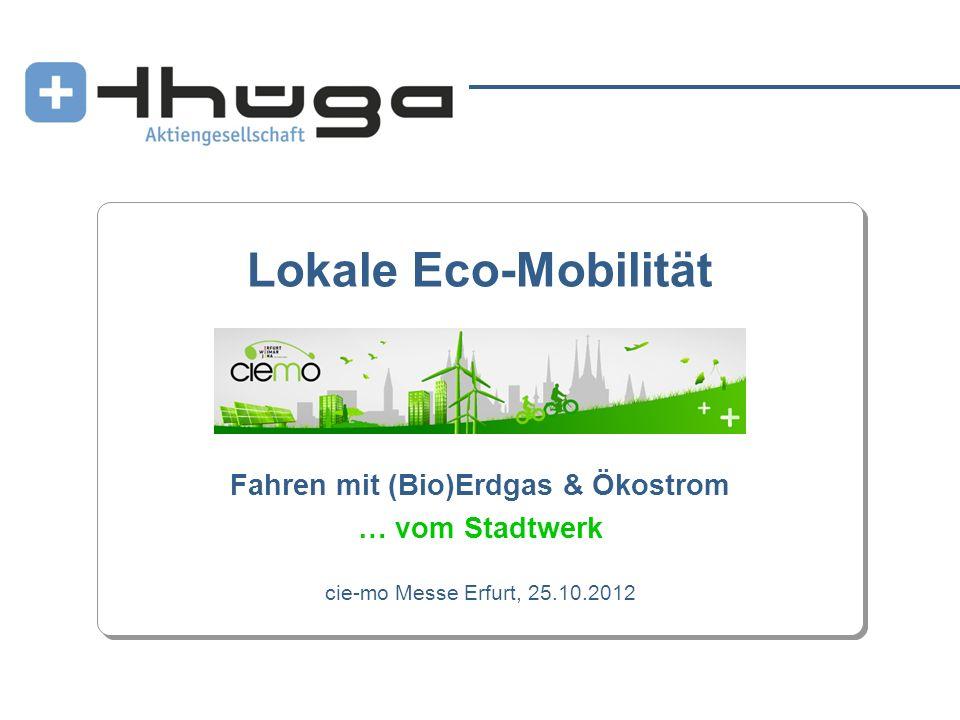 Fahren mit (Bio)Erdgas & Ökostrom … vom Stadtwerk