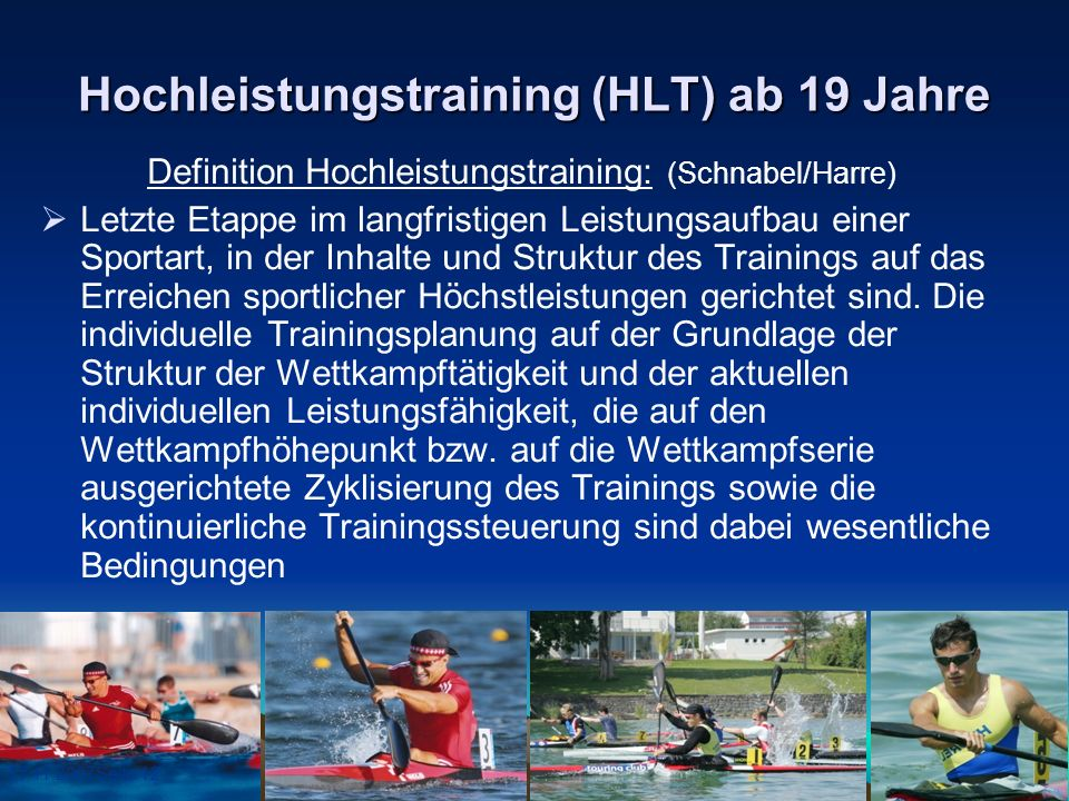 Hochleistungstraining (HLT) ab 19 Jahre