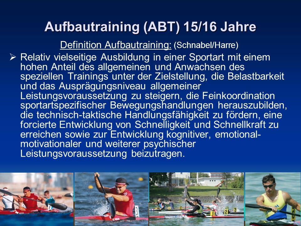 Aufbautraining (ABT) 15/16 Jahre