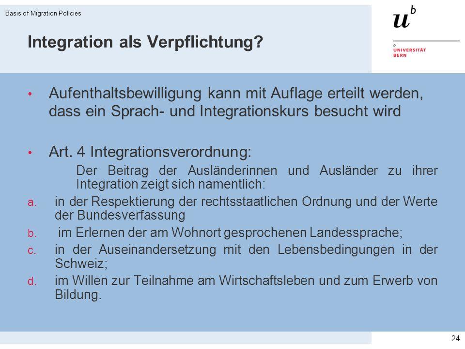 Integration als Verpflichtung