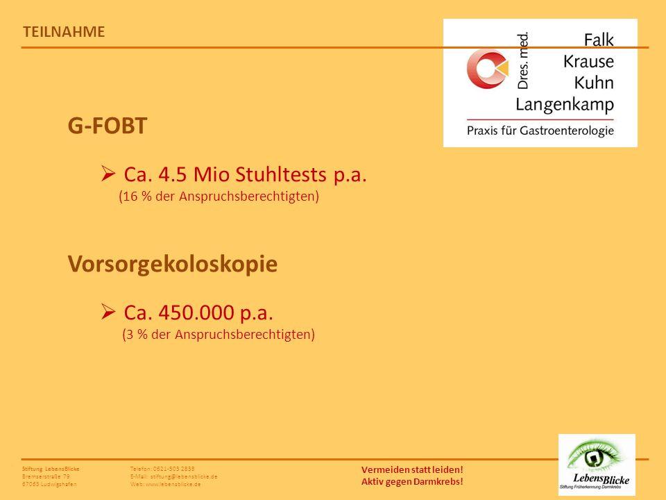 G-FOBT Vorsorgekoloskopie
