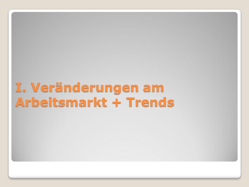 I. Veränderungen am Arbeitsmarkt + Trends