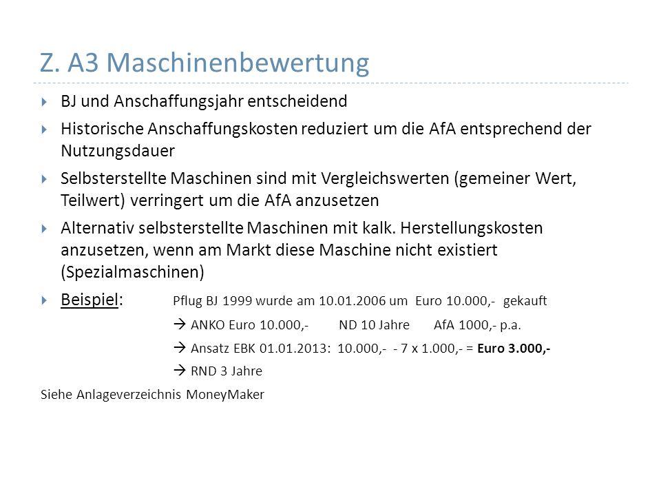 Z. A3 Maschinenbewertung