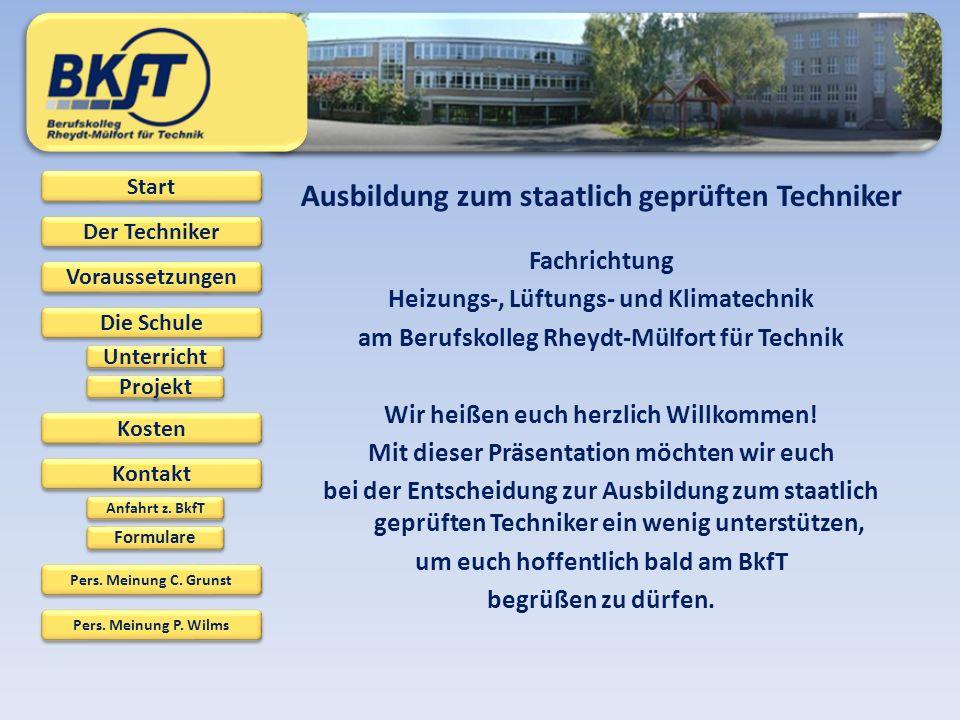 Ausbildung zum staatlich geprüften Techniker