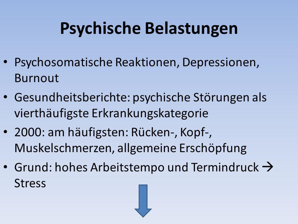 Psychische Belastungen