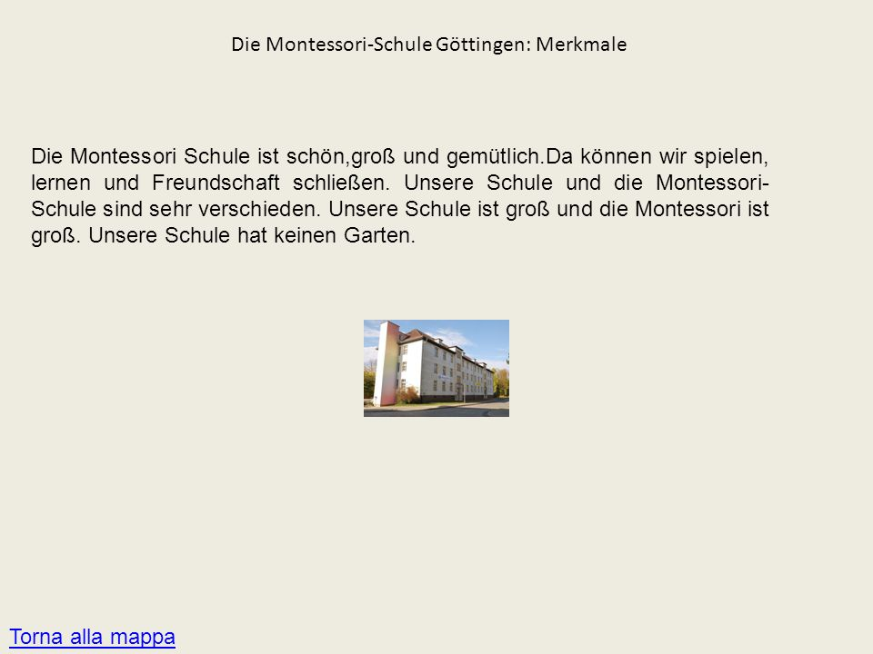 Die Montessori-Schule Göttingen: Merkmale