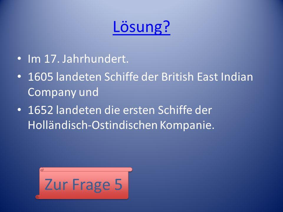 Lösung Zur Frage 5 Im 17. Jahrhundert.