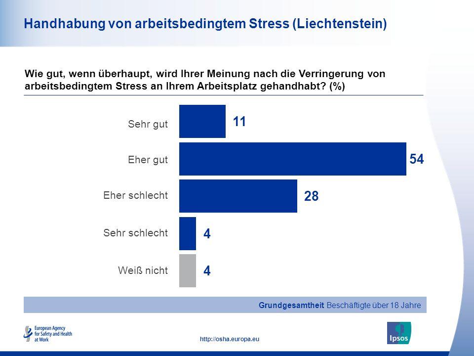 Handhabung von arbeitsbedingtem Stress (Liechtenstein)