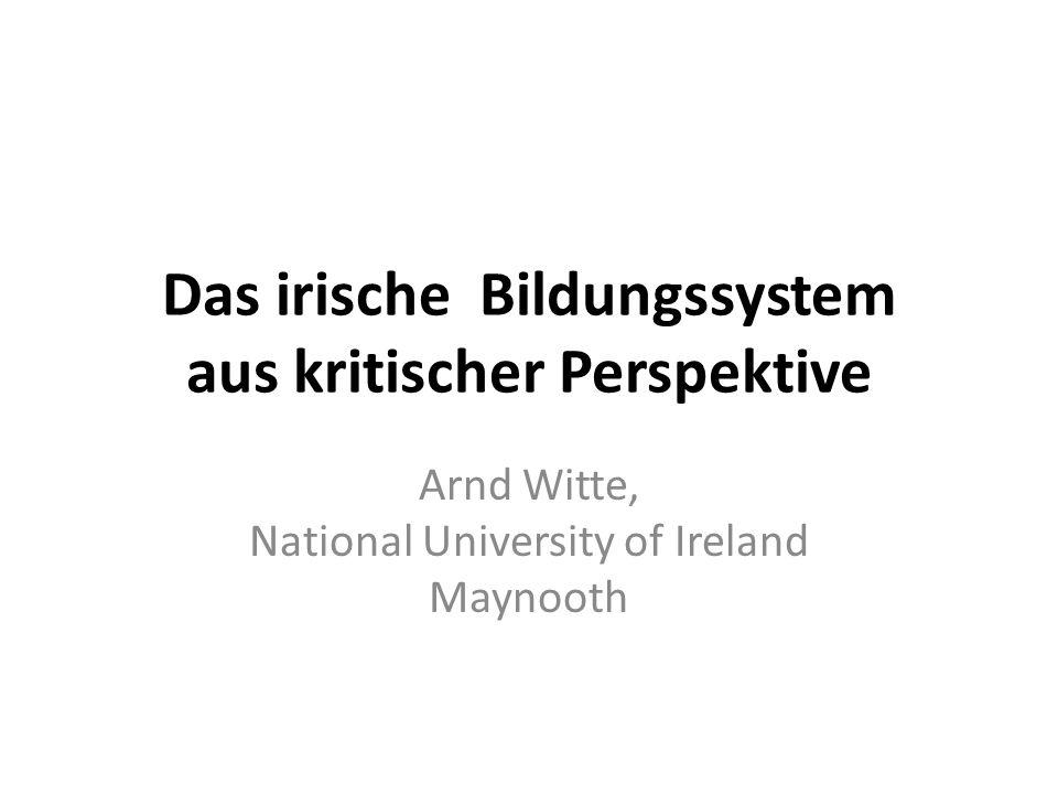 Das irische Bildungssystem aus kritischer Perspektive