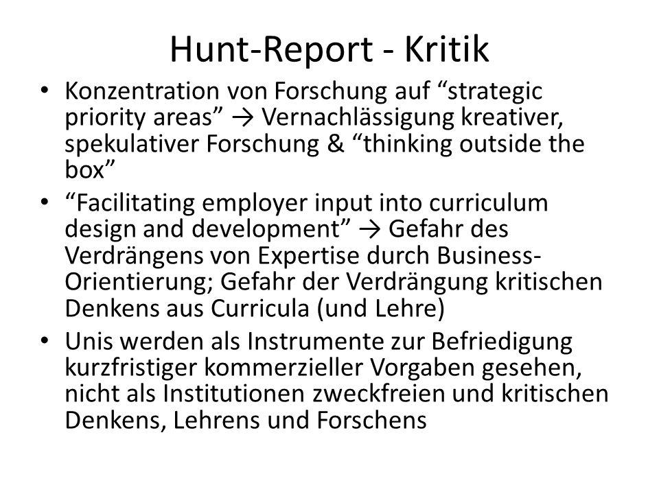 Hunt-Report - Kritik