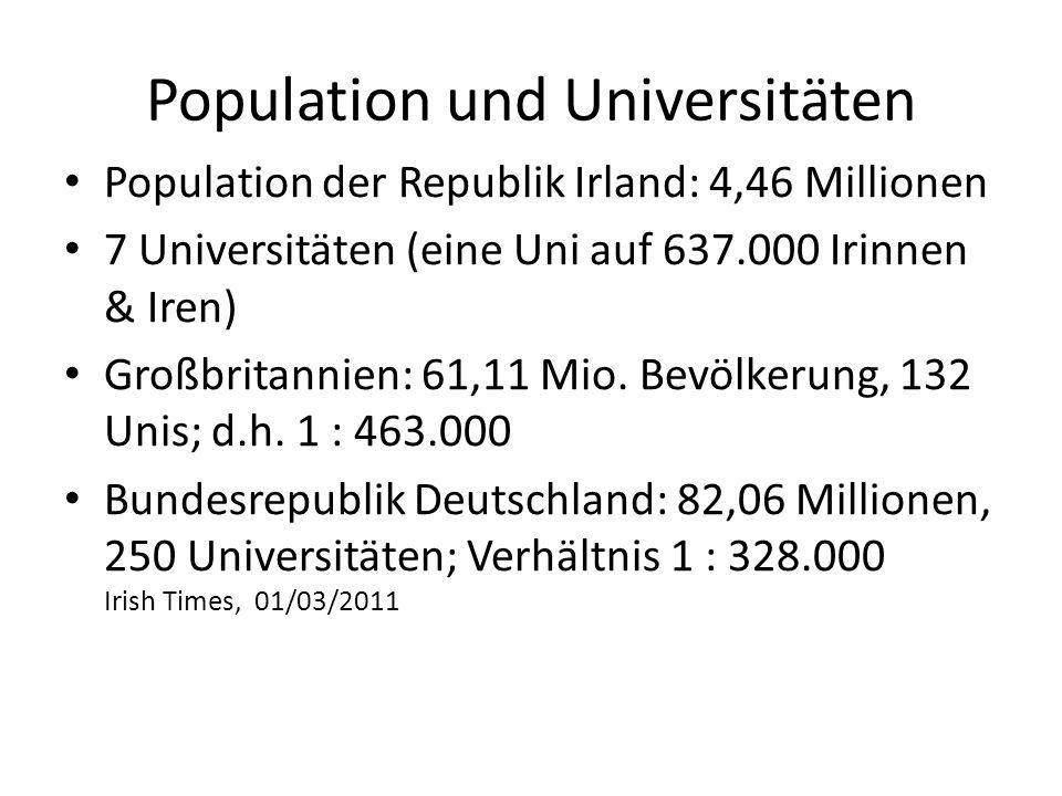 Population und Universitäten