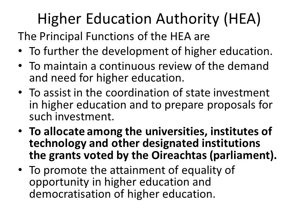 Higher Education Authority (HEA)