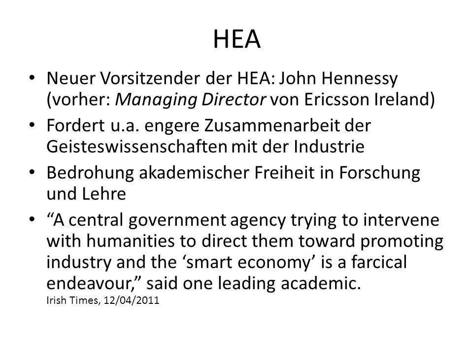 HEA Neuer Vorsitzender der HEA: John Hennessy (vorher: Managing Director von Ericsson Ireland)