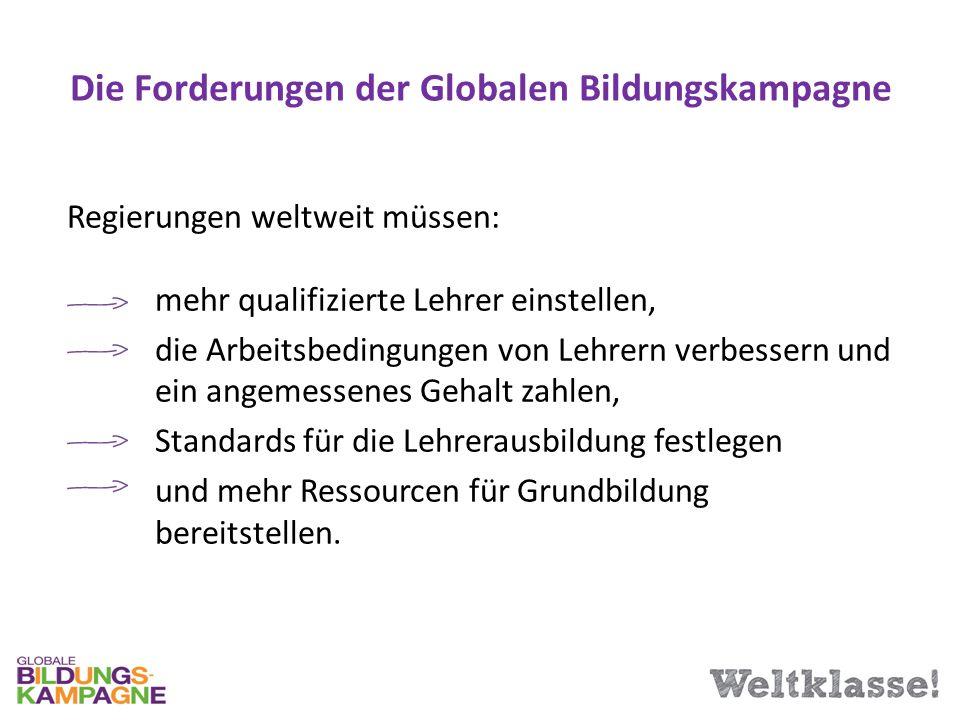 Die Forderungen der Globalen Bildungskampagne