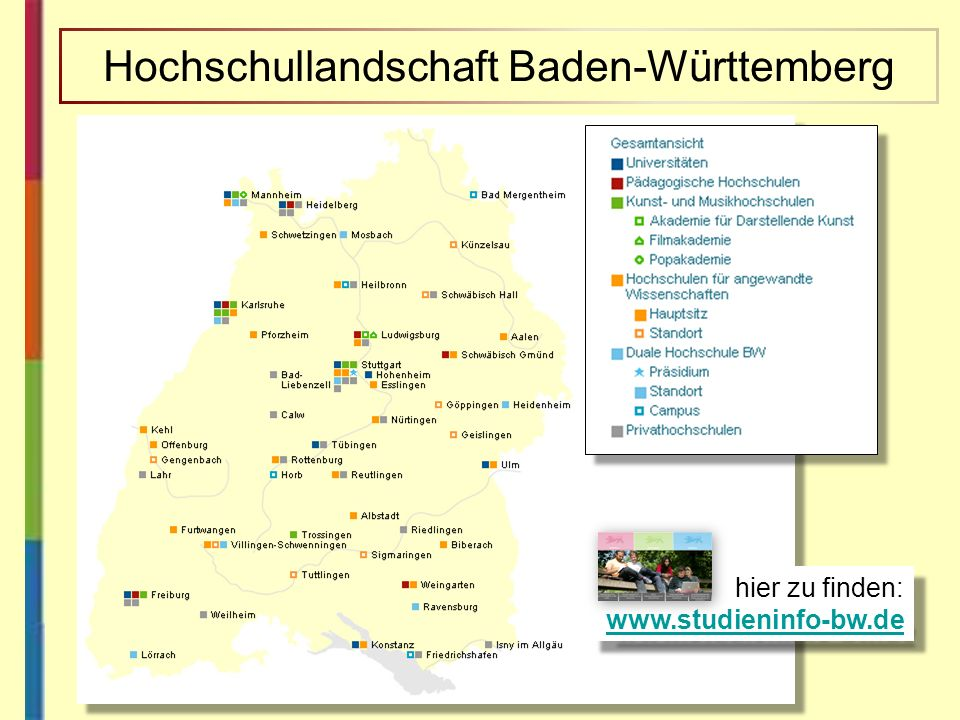 Hochschullandschaft Baden-Württemberg
