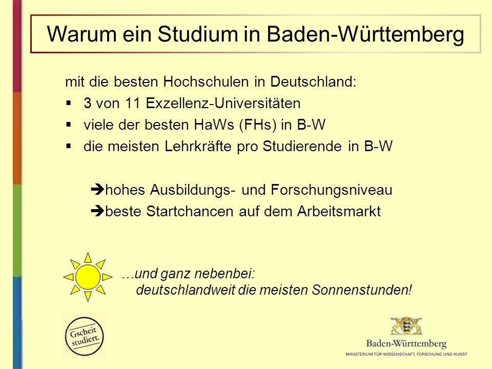 Warum ein Studium in Baden-Württemberg