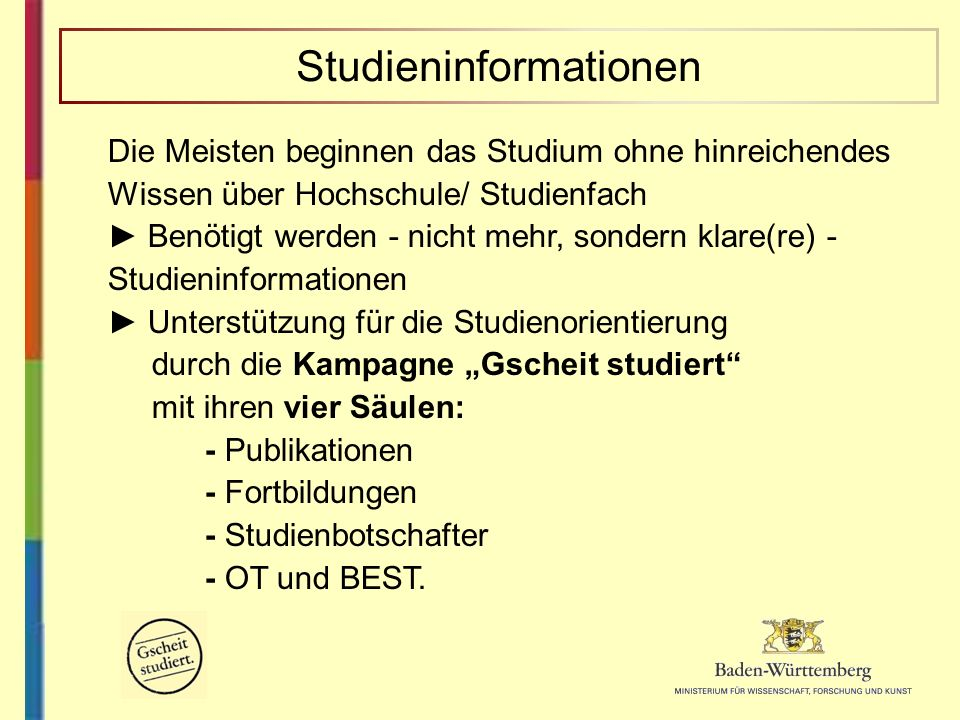 Studieninformationen