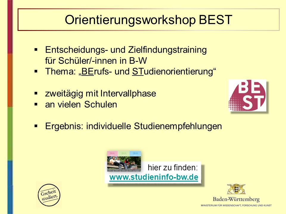 Orientierungsworkshop BEST