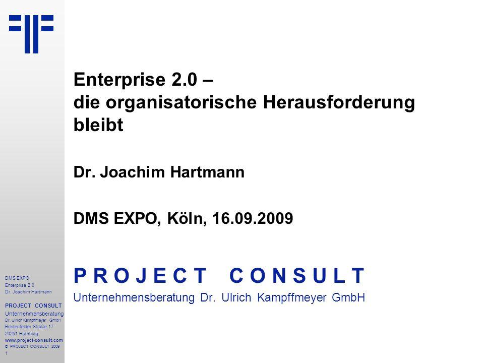 Enterprise 2.0 – die organisatorische Herausforderung bleibt