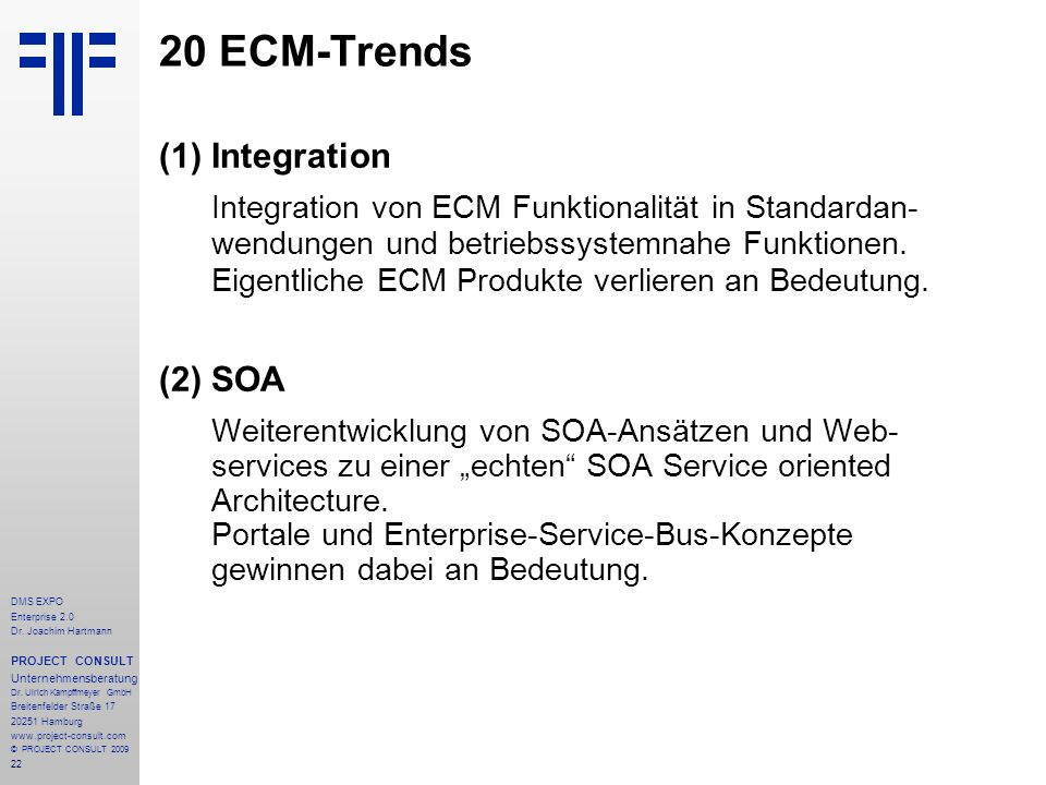 20 ECM-Trends Integration