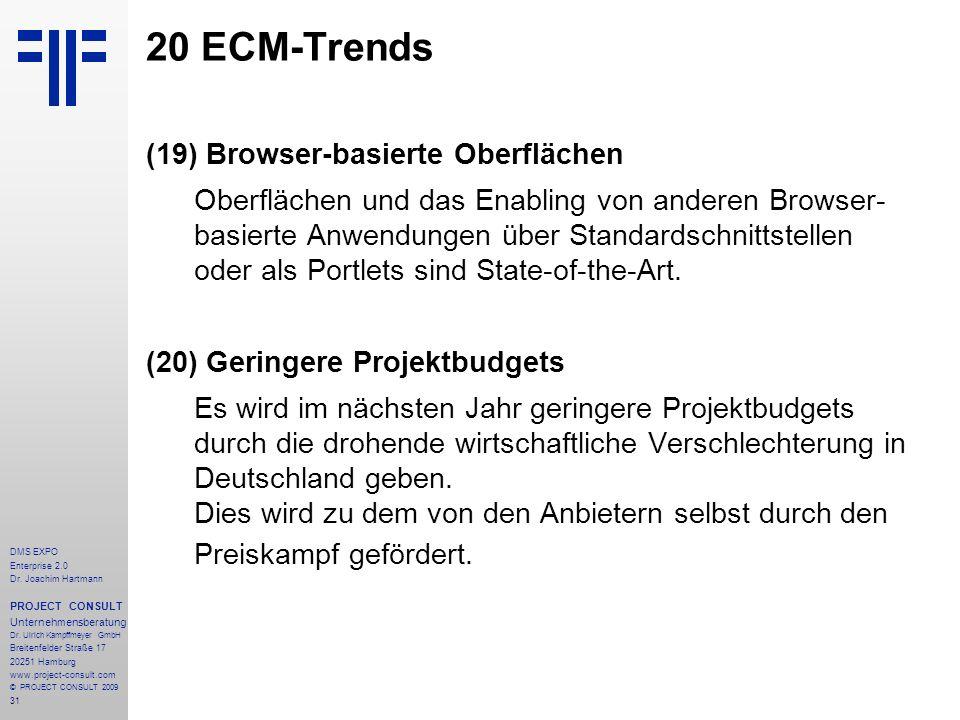 20 ECM-Trends (19) Browser-basierte Oberflächen