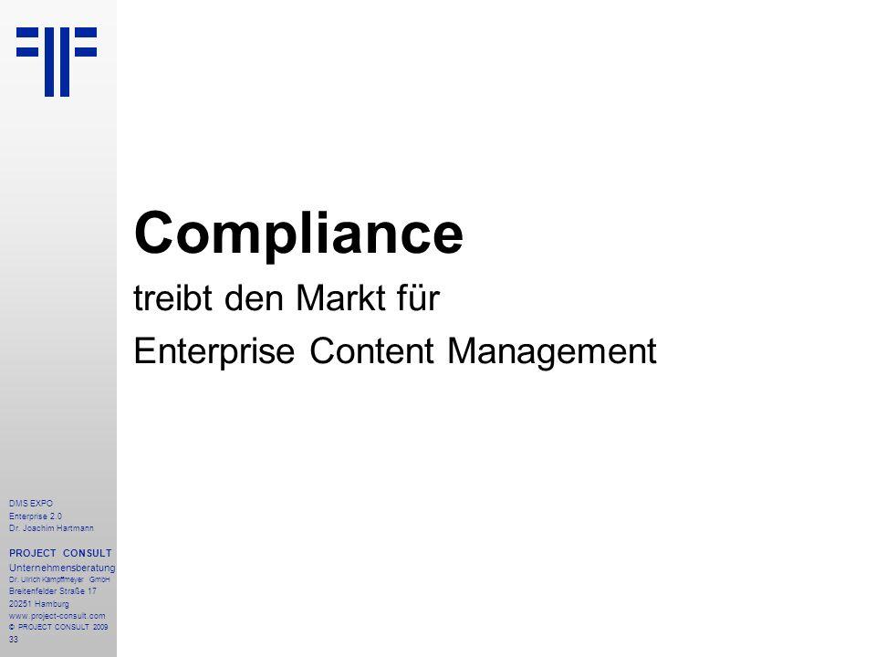 Compliance treibt den Markt für Enterprise Content Management