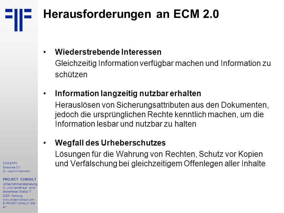 Herausforderungen an ECM 2.0