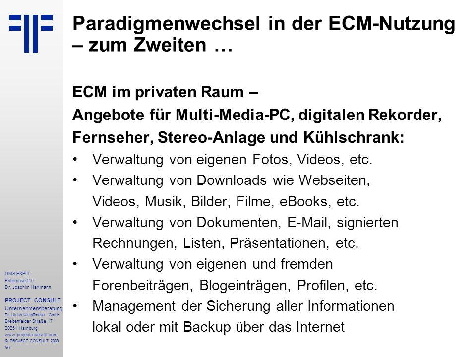 Paradigmenwechsel in der ECM-Nutzung – zum Zweiten …