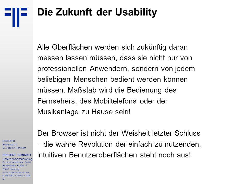 Die Zukunft der Usability