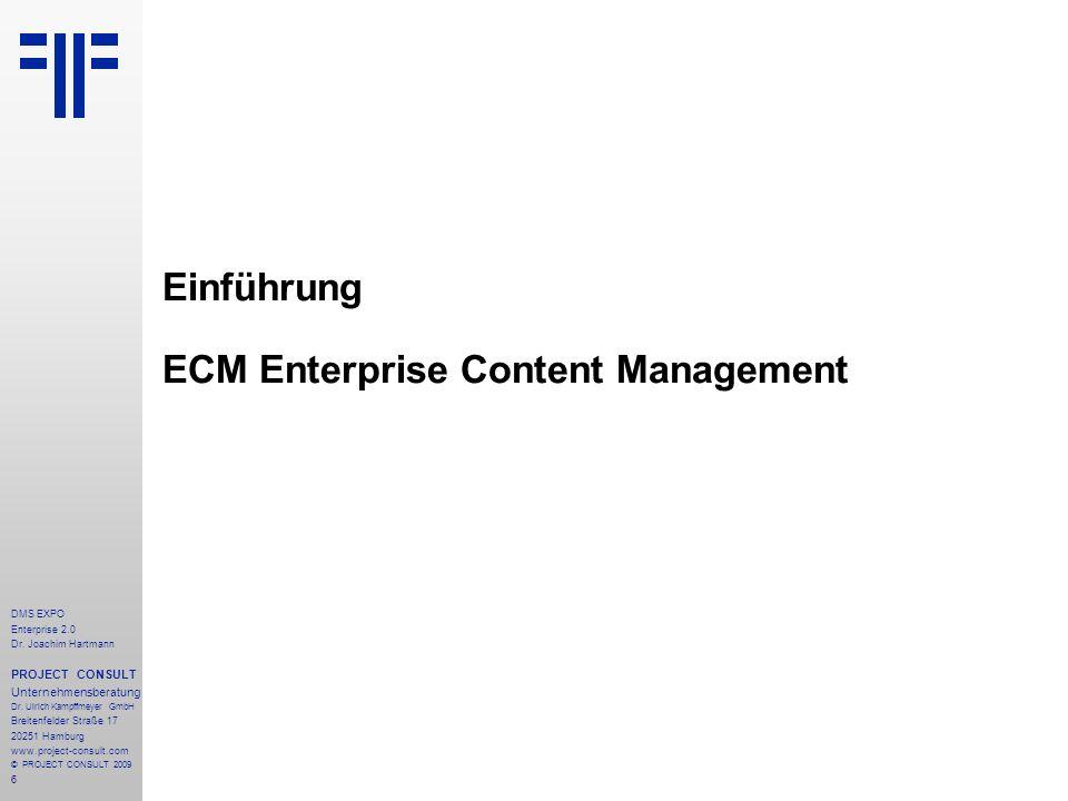 Einführung ECM Enterprise Content Management