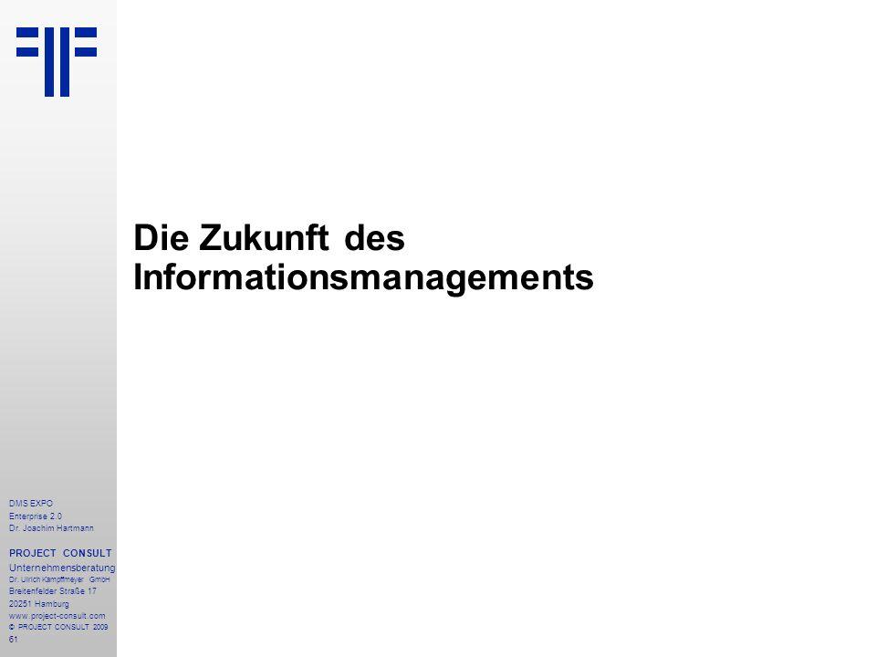 Die Zukunft des Informationsmanagements