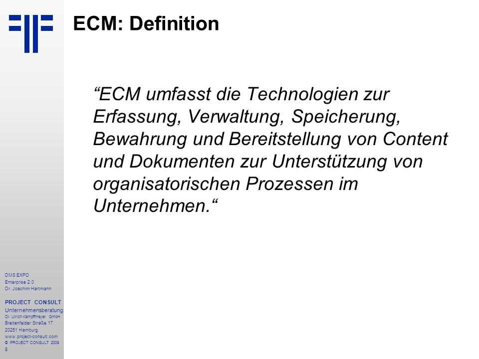ECM: Definition