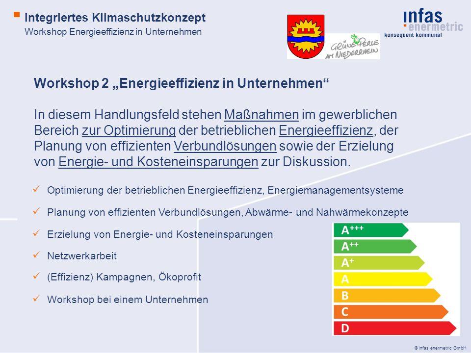 """Workshop 2 """"Energieeffizienz in Unternehmen"""