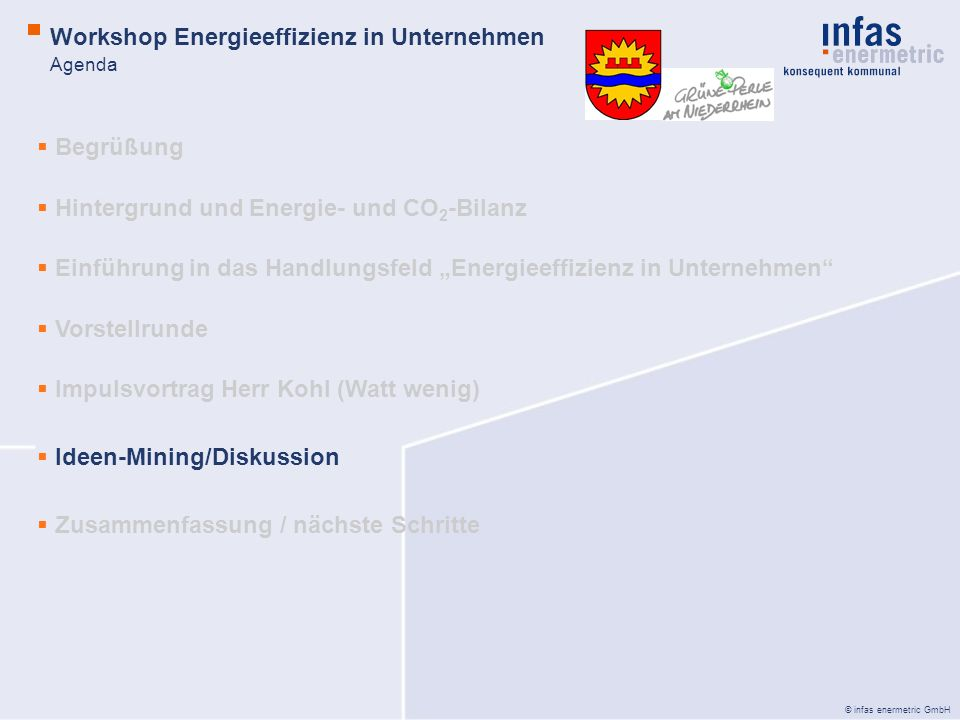 Workshop Energieeffizienz in Unternehmen