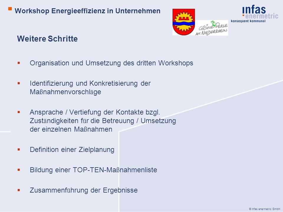 Weitere Schritte Workshop Energieeffizienz in Unternehmen