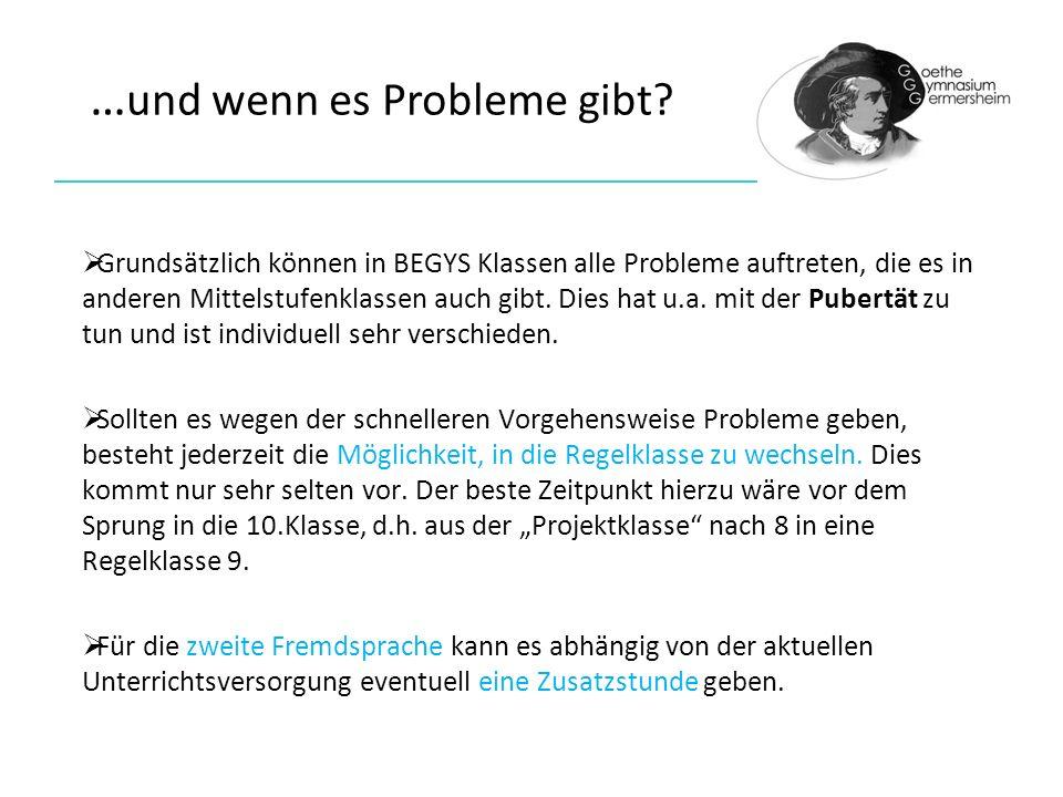 …und wenn es Probleme gibt