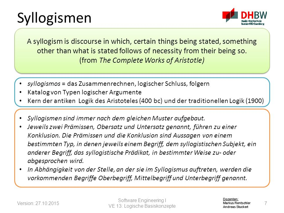 Syllogismen