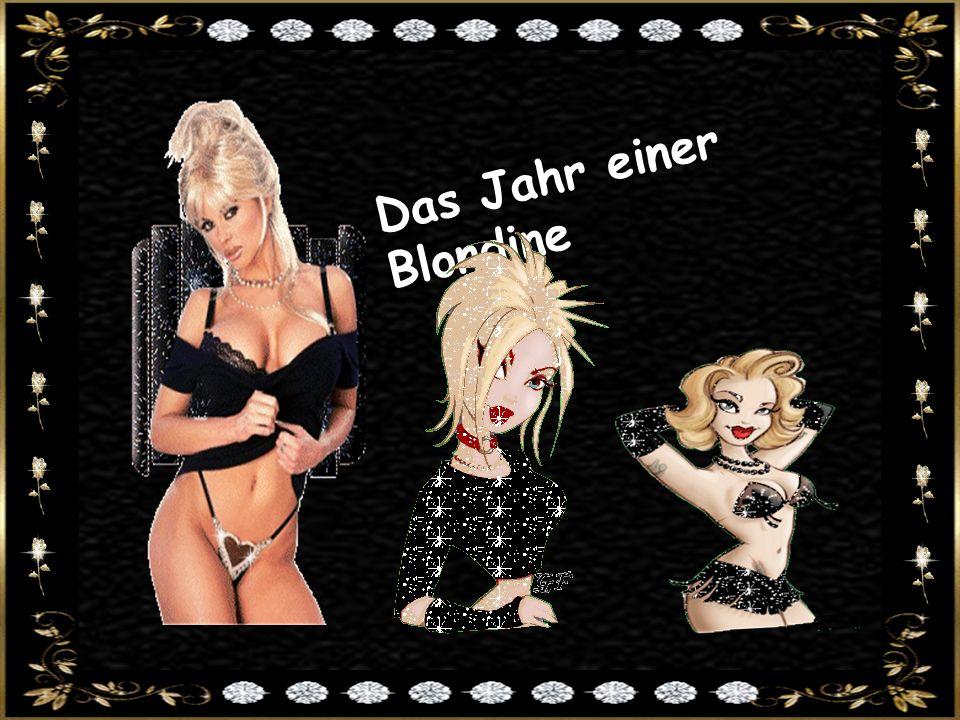 Das Jahr einer Blondine