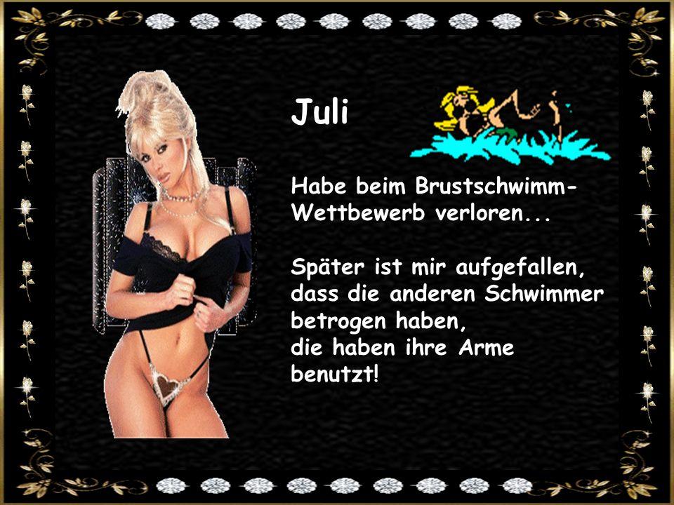 Juli Habe beim Brustschwimm-Wettbewerb verloren...