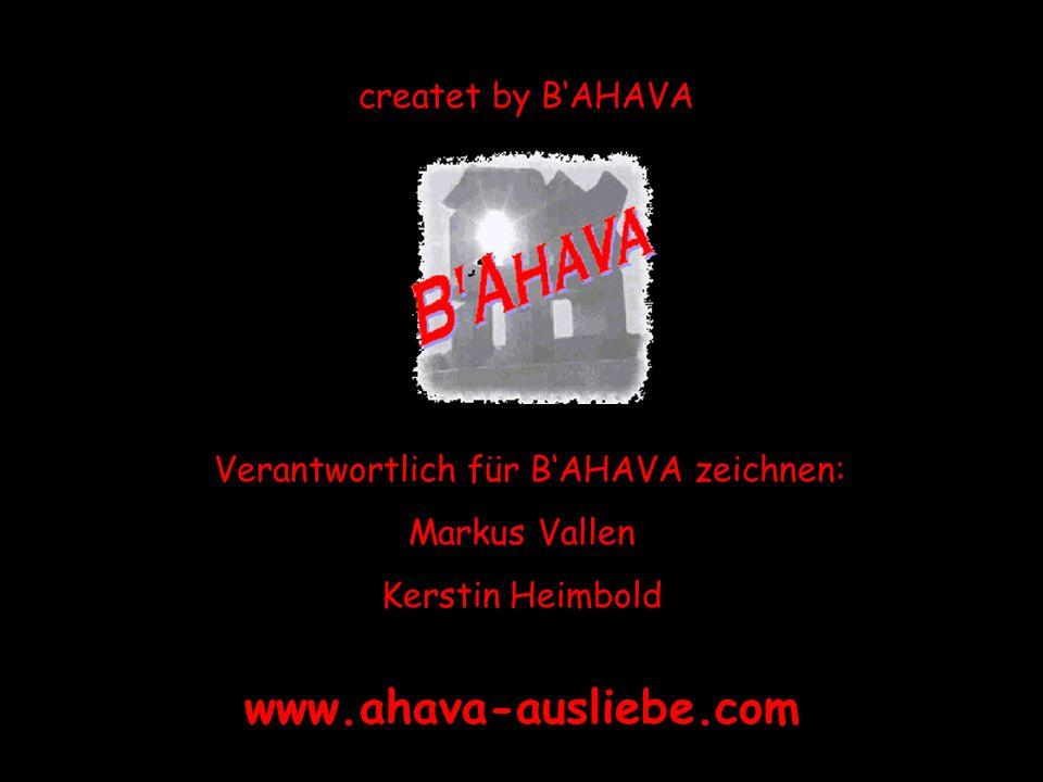 Verantwortlich für B'AHAVA zeichnen: